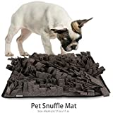 Petneces Snuffle Mat - Dog Cat Feeding Mats DIY, Encourages Natural Foraging Skills Smell Training Mat Nose Work Blanket (2-Pack, Dark Grey)