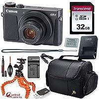 Canon PowerShot G9 X Mark II デジタルカメラ (ブラック) + プライムポイント&シュート トラベルアクセサリーキット