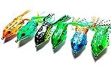 (akindou) トップルアー 6個セット フロッグルアー 5.5cm 12.5g ブラックバス 雷魚 ライギョ 鯰 ナマズ 釣りにどうぞ
