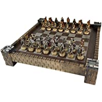 Skeleton Slayer Fantasy Skull Chess Set w/ 17