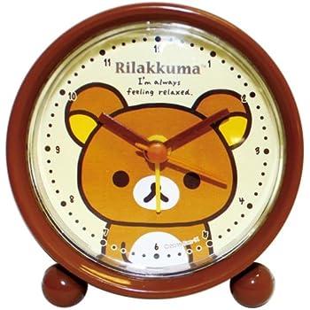 リラックマ 目覚まし時計 ラウンドアラームクロック アナログ表示 ブラウン 734412