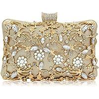 LUI SUI Evening Bag for Women, Crystal Beaded Evening Purses Rhinestone Crossbody Shoulder Clutch Bags Wedding Party Handbag