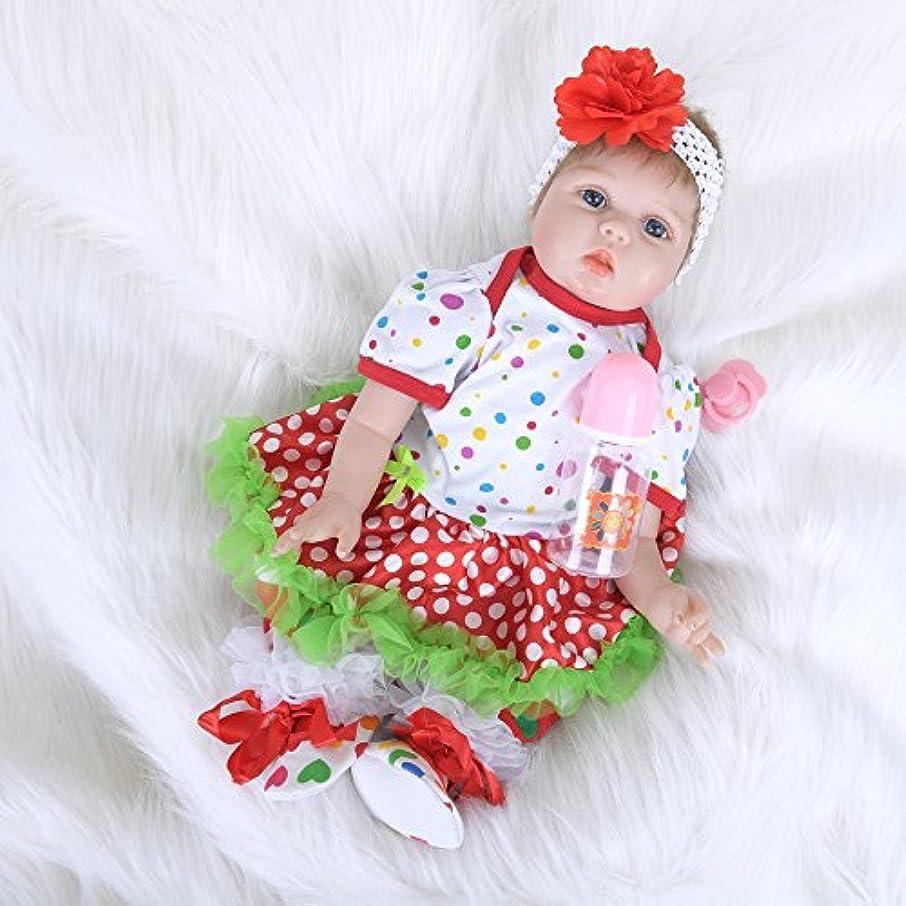 教育者弱いヘロインPKJOkmjko シミュレーション人形全シリカゲル赤ちゃん幼児教育迫真の女の子の人形迫真再生人形おもちゃ人形姫児童玩具子どもの誕生日プレゼントは身長約55センチ