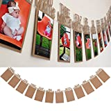Kicode 1〜12ヶ月のベビー 生年月日 フォトフレームシャワー バングバナー ロープでパーティー用品の装飾