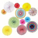 Best パーティーデコレーション - GuassLeeメキシカンカーニバル吊り紙ファン‐パーティーウェディング誕生日の装飾品 Review