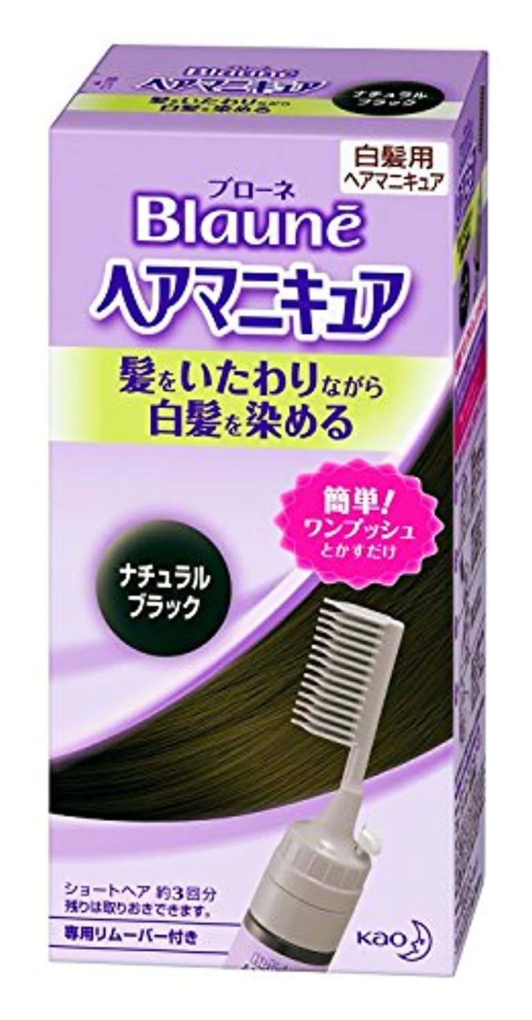 でも同一の溶かす【花王】ブローネ ヘアマニキュア 白髪用クシ付ナチュラルブラック ×10個セット