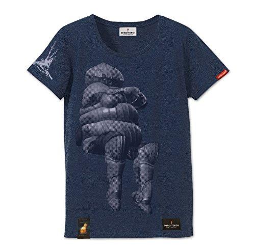 ダークソウル × TORCH TORCH/ 悩めるカタリナ騎士のTシャツ: ヘザーネイビー レディース フリーサイズの詳細を見る