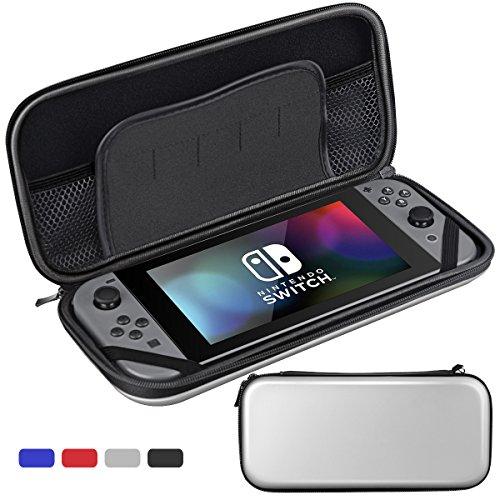 Nintendo Switch ケース Sahiyeah 任天堂 スイッチ ハード 専用 大容量 保護ケース 収納 カバー キャリングケース メッシュ袋収納EVA 防塵 耐衝撃 カード イヤホンなど小物収納可能
