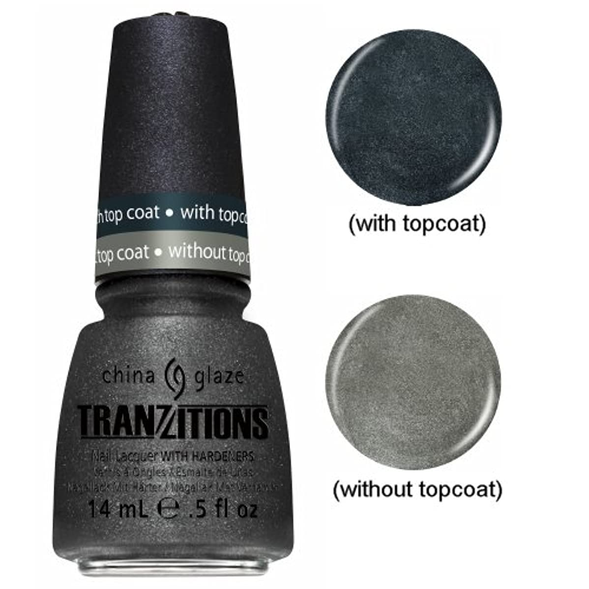 追う不十分なベルベットCHINA GLAZE Nail Lacquer - Tranzitions - Metallic Metamorphosis (並行輸入品)