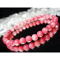 石街[イシガイ]isigaii 天然石4A可愛いピンクマザーオブパール約6ミリシラー 数珠ブレスレット パワーストーン