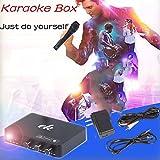 Cewaal カラオケサウンドミキサーセット、ホームミニカラオケエコーミキサーシステム歌うマシンAndroid TVボックスのPCの電話
