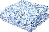 京都西川 掛けふとん ブルー シングルサイズ140×190㎝ 洗える接触冷感 やわらか ひんやり 4G1915-SC