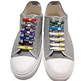 【iiko.tokyo】 靴ひも 結ばない ほどけない 靴紐 シューレース シリコン 製 紐 12本入り 結び方 説明書 付き