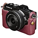 HAKUBA カメラケース 本革 ボディケース OLYMPUS PEN Lite E-PL7専用 レッド DBC-EPL7RD