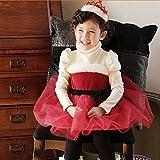 子供 クリスマス ベビー サンタ ドレス 長袖 ガールズ ワンピース キッズ コスプレ衣装 (130)