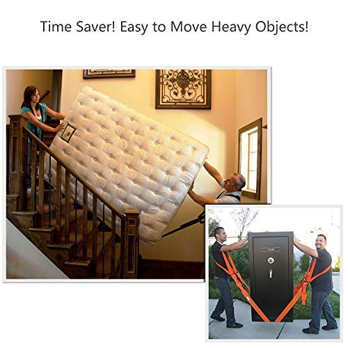 Adjustable Shoulder Lifting Straps, Carrying and Furniture Moving Straps - Easily Move Lift Carry Secure Appliances Heavy Objects Bulky Items