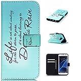 Galaxy S7 Edge ケース Zeebox 手帳型ケース カード収納 横開き Samsung Galaxy S7 Edge 用 高品質 液晶保護 カバー 生涯補償付き (グリーン)