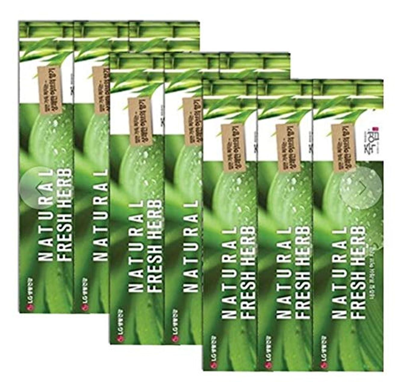 超音速エンコミウム動かない[LG生活と健康] LG竹塩Natural Freshナチュラルフレッシュハブ歯磨き粉160g*9つの(海外直送品)