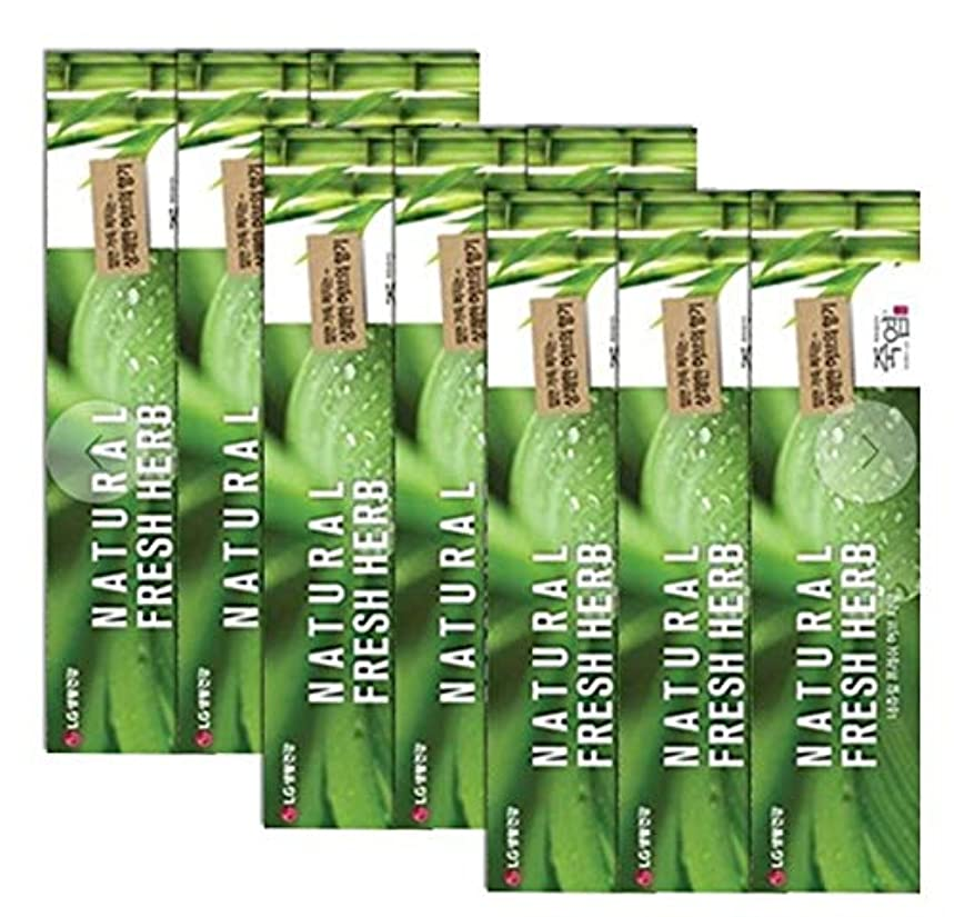 [LG生活と健康] LG竹塩Natural Freshナチュラルフレッシュハブ歯磨き粉160g*9つの(海外直送品)