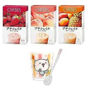 オルビス(ORBIS) プチシェイク3箱セットB(うるにゃんタンブラー付) スウィートテイスト 7食分×3箱 (ダイエットドリンク・スムージー)