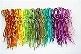 革紐 皮紐 かわひも スエード レザークラフト アクセサリー ネックレス ブレスレット チャーム チョーカー バングル ミサンガ カラフルカラー20色60本