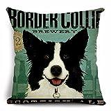 GOLDY DOG クッションカバー 犬柄 全6犬種 ボーダーコリー (ボーダーコリー1)