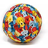 PetBloon Balloon Filled Dog Ball, Blue, Red, Yellow, One Size