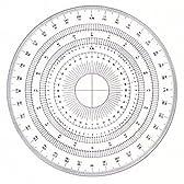 ドラパス 全円分度器15cm  アクリル製 16-512 360度