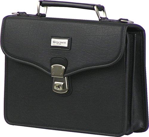 日本製 持ち手付 セカンドバッグ ブラック(黒) ヤングカジュアル VALENTINO SABATINI