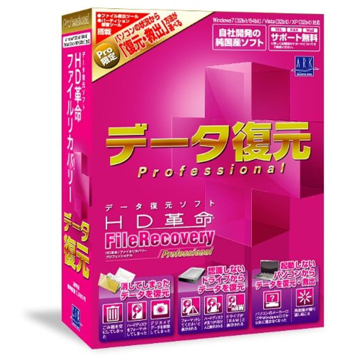 ほこり滝戦いHD革命/FileRecovery Professional 通常版