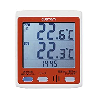 カスタム (CUSTOM) 無線温度計 温度(親機/子機) 通信距離最大100m RT-100