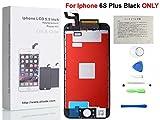 Oli & Ode iPhone 6S Plus 5.5 インチ交換修理用 画面 部品 フロントパネル(フロントガラスデジタイザ)タッチパネル 液晶パネルセット 修理工具付属 (ブラック)