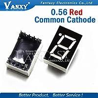 200PCS 7セグメント0.56インチの一般的なカソード1ビットデジタルチューブ0.56インチインチ0.56インチ。赤色LEDディスプレイ7セグメントLEDデジタルチューブ