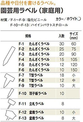 ACTOR 園芸用ラベル T型ラベル F-7 小 奥行4.8×幅3.1cm 18入