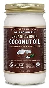 Dr.ブロナーバージンココナッツオイル USDA(米国農務省) 認定 オーガニック&フェアトレード 414ml