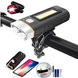 Tricodale 自転車ライト フロントライト*1 バックライト*1 LED サイクルライト USB充電式 2000mAh 大容量バッテリー丈夫 長持ち 射程200M 防水 ヘッドライト テールライト 簡単取り付け