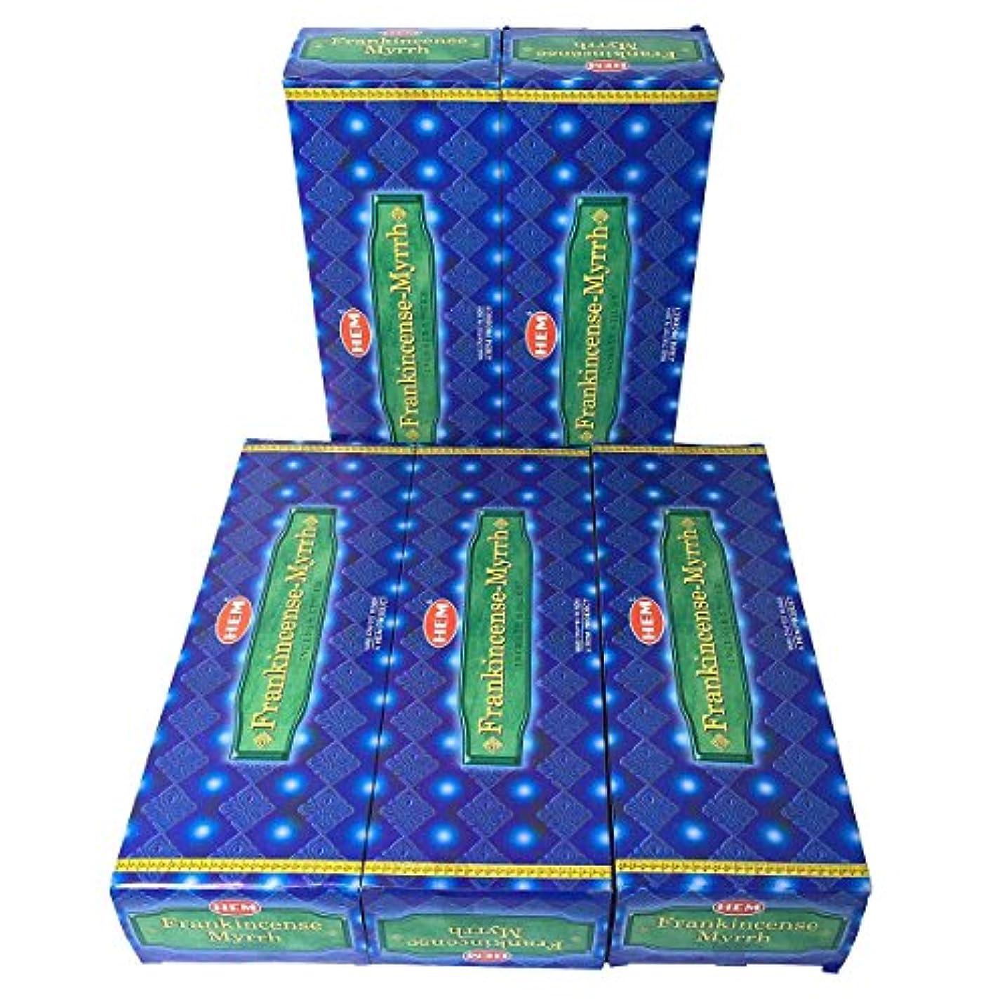 少年強調する道徳教育HEM フランキンセンス-ミルラ香 スティック 5BOX(30箱)/HEM FRANKINCENSE MYRRH/ インド香 / 送料無料 [並行輸入品]