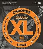D'Addario ECG23 フラットワウンド エレキギター弦×3セット