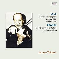 ティボーの芸術 2 ~ スタジオ放送録音編 (Lalo : Symphonie espagnole   Franck : Sonata for Violin and Piano / Jacques Thibaud   Hessen RSO, Winfried Zillig   J. Laforge (piano)) [2LP] [Studio Recording] [Analog]