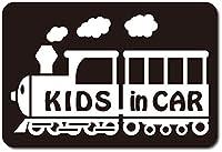 imoninn KIDS in car ステッカー 【マグネットタイプ】 No.19 汽車 (黒色)