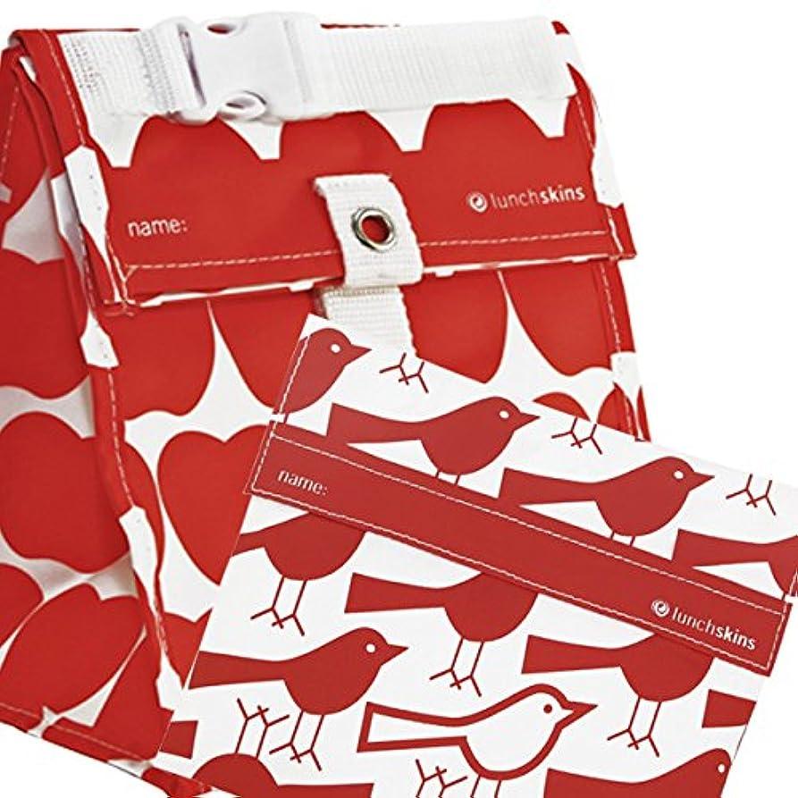 北極圏オペラ夕食を食べるLunchskins Reusable Sandwich Bag, Red Bird by LunchSkins