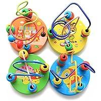 幼児期のゲーム 子供のための創造的な漫画のタイガーパターン巻き上げ玩具