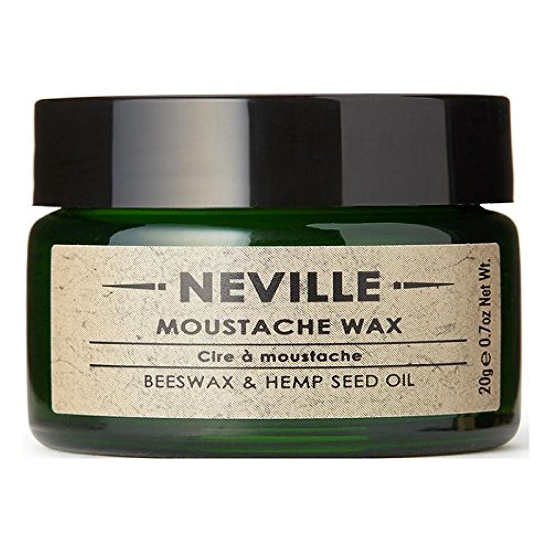 楽観的ハード容器ネビル口ひげワックス x4 - Neville Moustache Wax (Pack of 4) [並行輸入品]