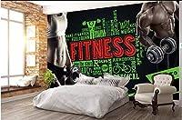 Mbwlkj 3D壁紙カスタム写真フィットネス男性と女性ボディービルリビングルーム家の装飾3D壁壁画用壁-400cmx280cm