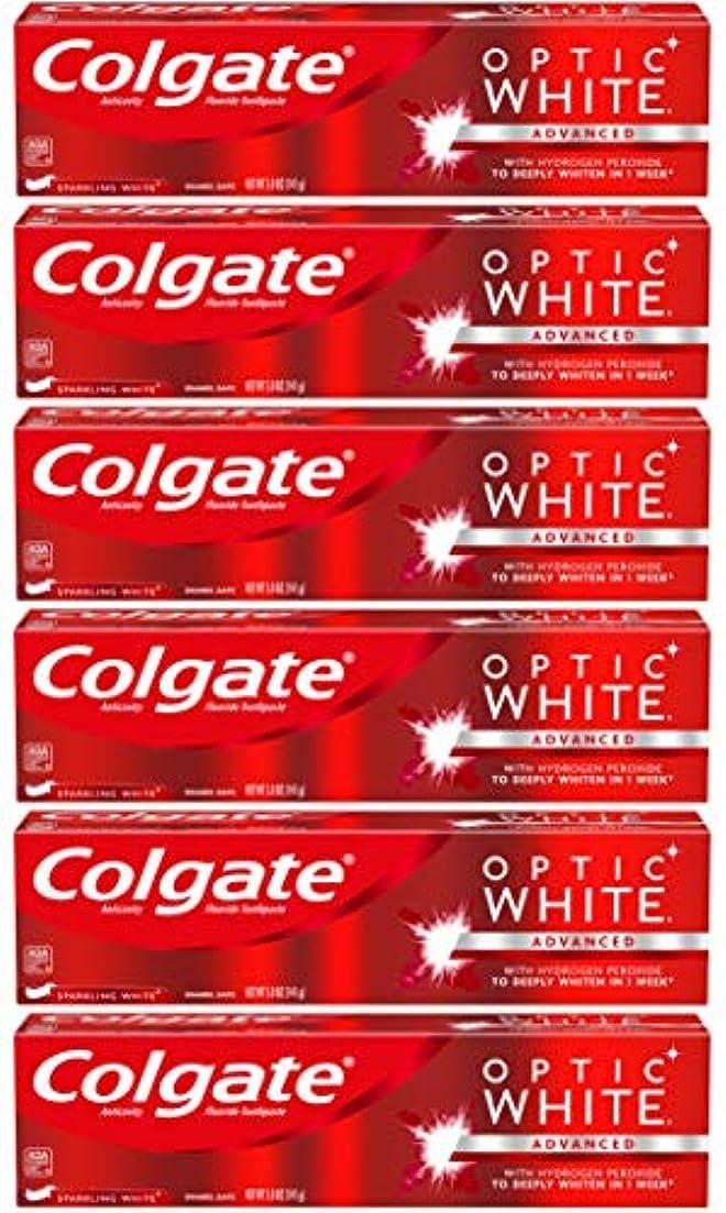 飛躍高揚したベルトColgate オプティックホワイトホワイトニングの歯磨き粉、スパークリングミント - 5オンス(6パック)
