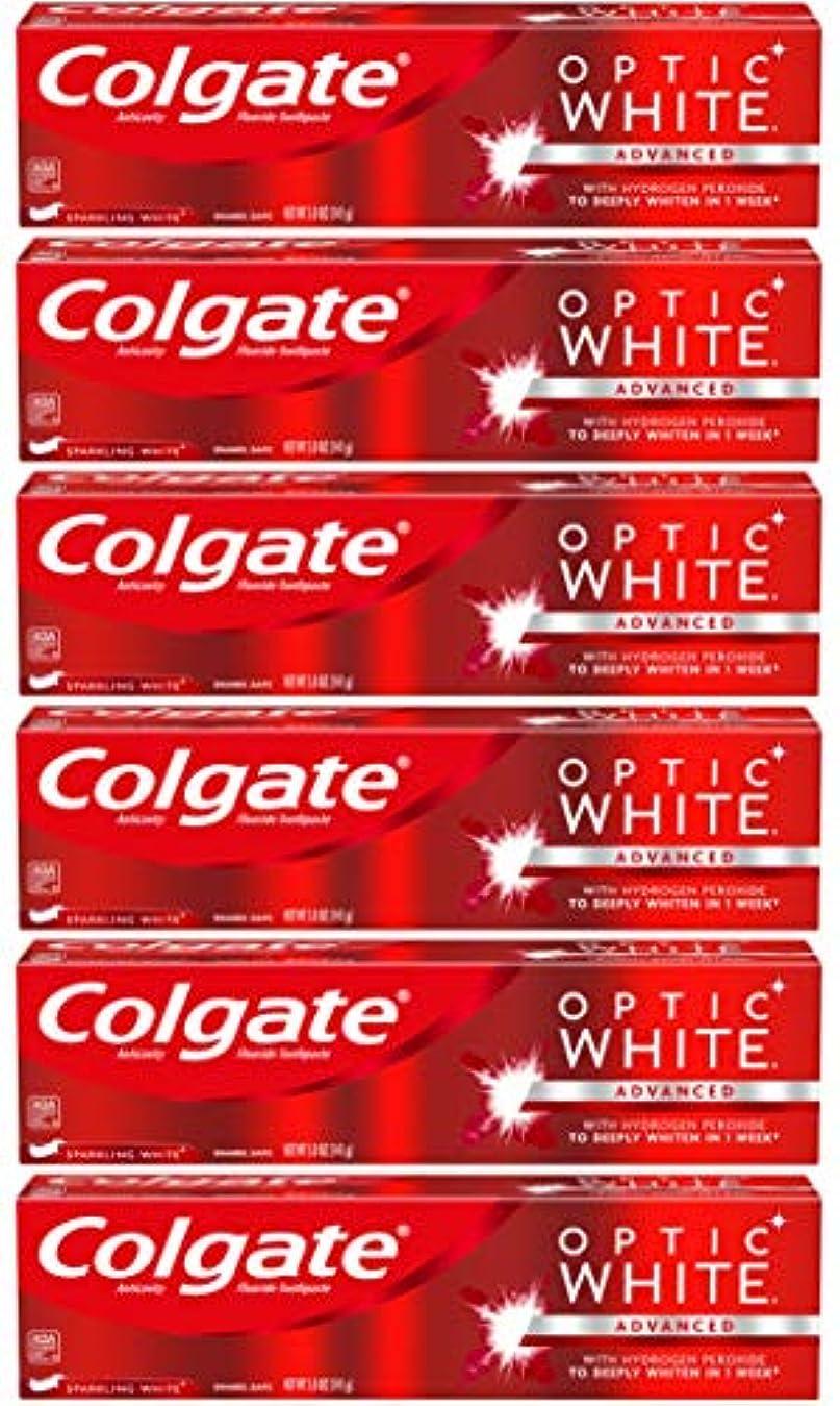爆風つま先ウールColgate オプティックホワイトホワイトニングの歯磨き粉、スパークリングミント - 5オンス(6パック)