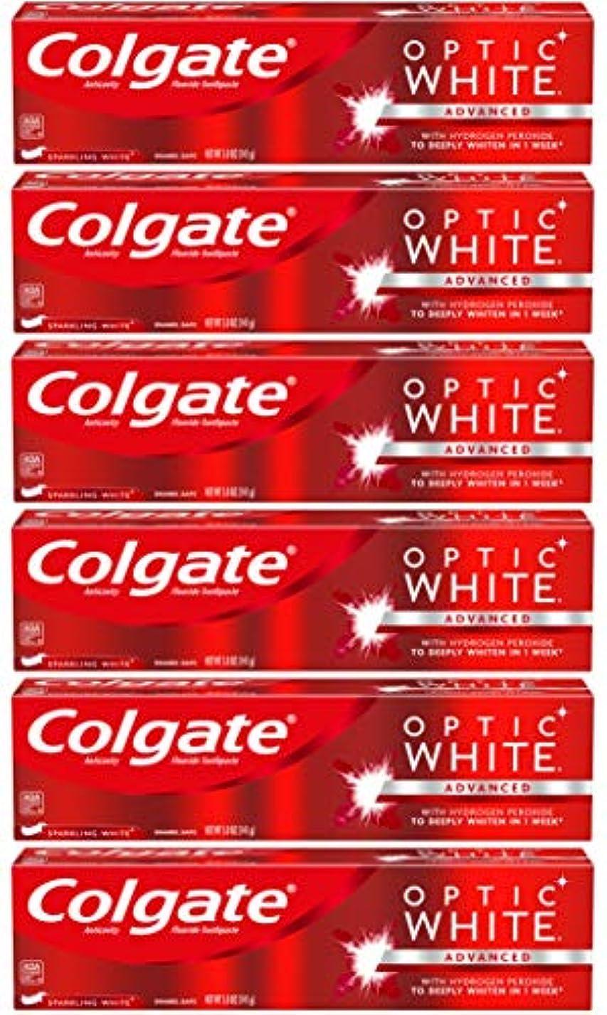 ベリー慈悲血Colgate オプティックホワイトホワイトニングの歯磨き粉、スパークリングミント - 5オンス(6パック)