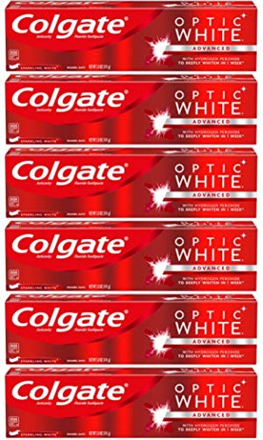 残忍な報酬のブレスColgate オプティックホワイトホワイトニングの歯磨き粉、スパークリングミント - 5オンス(6パック)