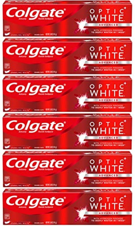 の面では前者熱心Colgate オプティックホワイトホワイトニングの歯磨き粉、スパークリングミント - 5オンス(6パック)