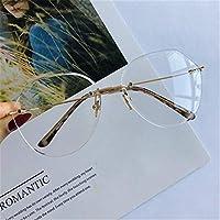 眼鏡をかけて着用するサングラス 人格フレームレスレディースサングラスUVプロテクションカラーレンズ運転旅行 運転のための (色 : Clear)